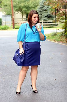 colorblocking blue - body diversity - fashion spring/summer look