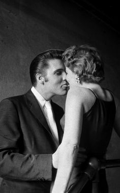 "Elvis Presley, ""The Kiss"", 1956, by Alfred Wertheimer"