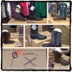 New TWISTED X boots have arrived! Will be online soon  in the meantime call into the shop and have a look #liebigstreet #greatoceanroad #3280 #countryimpressions #shop3280 #warrnambool #twistedx #twistedxboots #thatswhatsinthebox #western #country #cowboy #cowgirl #westernoutfitters by countryimpressions