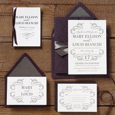 Vintage Scrolls Wedding Invitation suite - Mary  Louis