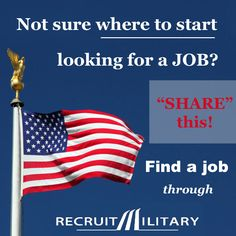 """One of the questions veterans ask us most often is this: """"How do I get started finding a job?"""" We answer: Register at www.RecruitMilitary.com"""