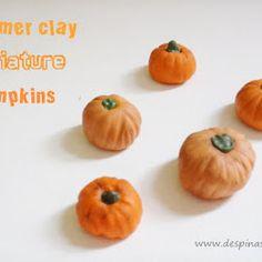 Polymer clay tutorial : Pumpkin Polymer Clay Crafts, Clay Tutorials, Clay Projects, Diy Tutorial, Copper, Pumpkin, Diy Crafts, Halloween, How To Make