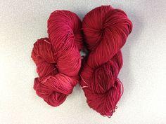 University Drive 2 ply sock yarn October 2014 Cinnabar