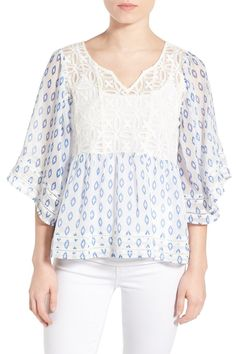 'Drea' Ikat Print Blouse by cupcakes and cashmere on @nordstrom_rack