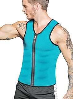 62ed59e716 RIBIKA Waist Trainer Vest Men Body Shaper Weight Vest for Weight Loss Sauna  Sweats Suit Slimming Tank Top Shirt - Smart Product Affiliate