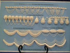 royal icing and embroideries