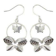 Boucles d'oreilles papillons en Argent 925 - Bijoux disign: ShalinCraft: Amazon.fr: Bijoux