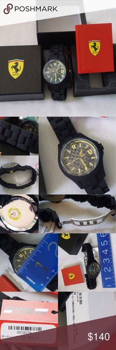 BRAND NEW FERRARI WATCH -BRAND NEW WITH TAG -COLOR: AS SHOWN -CHINESE BRACELET JAPANESE MOVEMENT -ORIGINAL BOX & BOOKLET               ⭐RATED SELLER  👍FAST SHIPPER NEXT DAY SHIPPING  ❌NO TRADE ❌NO PAYPAL ✅BUNDLE OFFER Ferrari Accessories Watches
