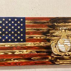 Wooden Flag Marine Corps Flag Military flag Rustic Wood   Etsy Marine Corps Emblem, Us Marine Corps, Marine Flag, American Flag Wood, All Flags, Beautiful Christmas Decorations, Wooden Flag, Flag Stand, Moon Art