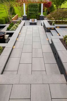 Backyard Patio Designs This backyard patio idea is inspired by our Blu Grande Smooth patio slab. Concrete Backyard, Concrete Patio Designs, Small Backyard Patio, Backyard Patio Designs, Backyard Landscaping, Patio Ideas, Colored Concrete Patio, Stone Patio Designs, Concrete Patios