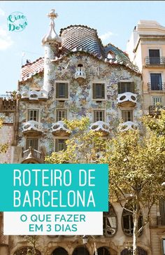 Roteiro de Barcelona Barcelona Roadmap - Things to do in 3 days Eurotrip, Places To Travel, Places To See, Cheap Things To Do, Packing Tips For Travel, Travel Guide, Barcelona Spain, Hotel Reviews, Madrid