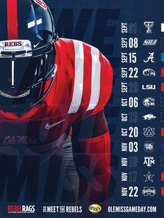 College Football Schedule, College Football Recruiting, Football Program, Sports Graphic Design, Graphic Design Posters, Schedule Design, Sport Inspiration, Football Design, Sports Graphics