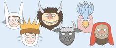 'Where The Wild Things Are' Role-Play Masks | Free EYFS / KS1 Resources for Teachers