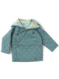 Little Green Radicals Organic stripe Sherpa jacket  age 3 /& 6 months