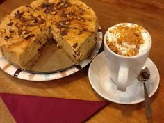 Crunchie Caramel Cheese Cake & Spiced Latte