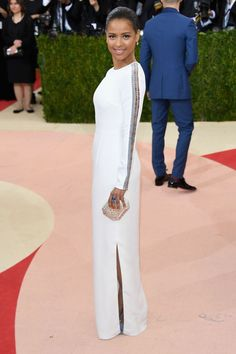 Gugu Mbatha-Raw looked very stately in Gabriela Hearst at the 2016 Met Gala.