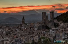 Medieval Village by Alfredo Costanzo The Province, Seattle Skyline, Monument Valley, Medieval, Beautiful Places, National Parks, Around The Worlds, Italy, Grandparents