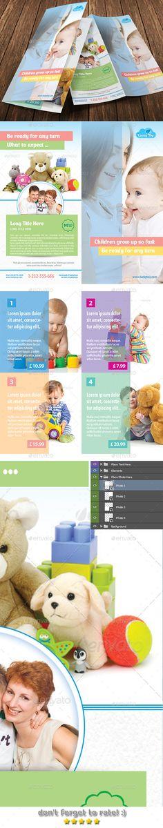 Daycare Flyer Templates by Leza on Creative Market Stuff to Buy - kindergarten brochure template