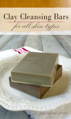 Get clear, smoother skin with these clay cleansing bars, no matter your skin type - The Herbal Spoon Health Clear Skin Health Remedies Health Tips Health For women Health Natural Health Tips Homemade Soap Recipes, Homemade Facials, Homemade Beauty, Diy Beauty, Bath Recipes, Beauty Soap, Homemade Products, Natural Exfoliant, Beauty Recipe