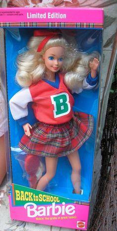 Back to School 1992 Barbie Doll NRFB #Mattel #DollswithClothingAccessories