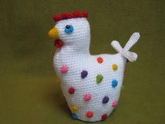 Chicken Polka Dots Crochet Pattern PDF Easter by Millionbells