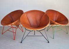 Saddle Leather Round Chair → Garza Marfa
