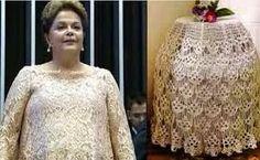 Neusa Tee, o blog: Dilma, vestido, croche sem preconceito.