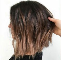 20 light brown bob hairstyles - Brown balayage short hair The Effective Pictures We Offer You About Beauty pictures A quality pict - Light Brown Bob, Short Brown Bob, Short Light Brown Hair, Brown Ombre Short Hair, Brown Lob Hair, Light Brown Hair Colors, Short Blonde, Long Bob With Ombre, Brown Long Bobs