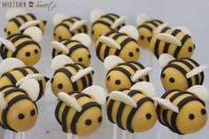 Bees CakePops~              By midtown sweets, yellow, black