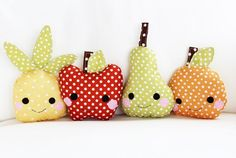 These would make great bump buddy patterns for briar.   DIY fruit baby toys kids