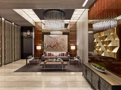 One57 Lobby, Residential Tower I Designed by Jeffrey Beers International I Photographed by Eric Laignel