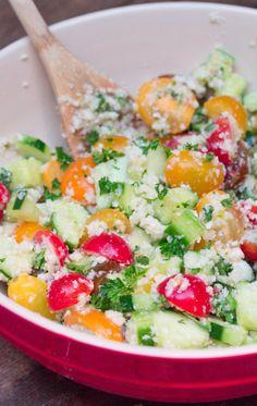 Cauliflower Rice Tabbouleh Salad