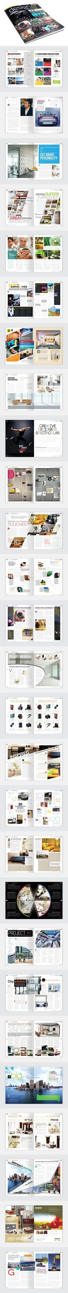 Magazine Template - InDesign 56 Page Layout V2 on Behance