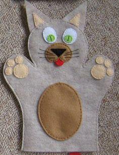 Cat Hand Puppet Felt