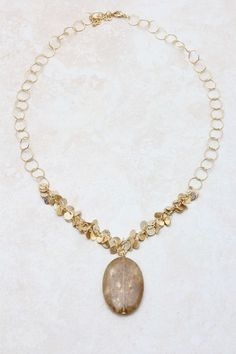 Champagne Adette Necklace on Emma Stine Limited. Gorgeous