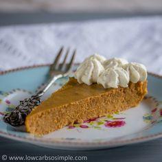 Crustless Low-Carb Pumpkin Pie | Low-Carb, So Simple!