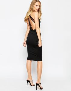Oh My Love Midi Dress With T Bar Detail