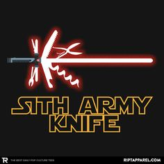 Sith Army Knife Shirt: A T-shirt for Men, Woman, Kids | RIPT Apparel