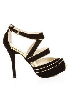 Black + Gold Heels