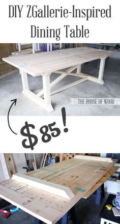 Build a stylish kitchen table with these free farmhouse table plans. They come in a variety of styles and sizes so you can build the perfect one for you. Farmhouse dining room table and Farm table plans. Furniture Projects, Furniture Plans, Home Projects, Diy Furniture, Furniture Design, Antique Furniture, Furniture Cleaning, Building Furniture, Coaster Furniture