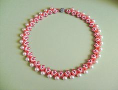 Free pattern for necklace Ginger by OlgaK | Beads Magic