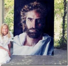 Prince of peace by Akiane here she is sitting next to it. THERE IS A MIGHTY GOD IN HEAVEN! AmeN!