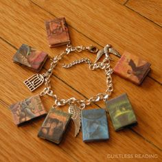 Get your #HarryPotter fix! All 7 books in a charm bracelet! @aliciacraft9799 / guiltless reading