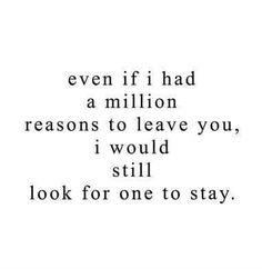 A million reasons. Carmen