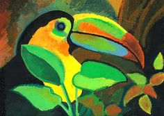 kimberly purnell * design exotica * oil pastel painting of toucan ... kpurnell.com
