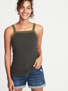7ffa796c78 11 Best Striped Tank images | Stripes, Casual outfits, Fashion outfits