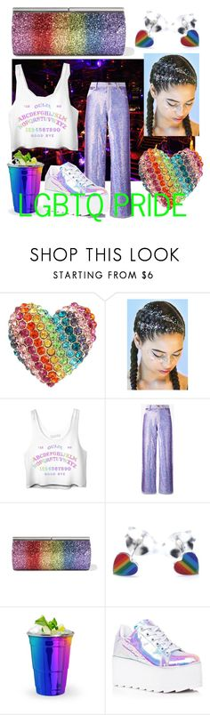 """Pride Party"" by ravengravesgoode ❤ liked on Polyvore featuring Betsey Johnson, Ashish, Jimmy Choo, Y.R.U. and pride"