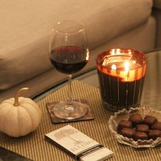 Perfect Fall Evening- Nest Fragrances Hearth Candle, Red Wine, Gourmet Chocolate