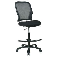 Office Star Products Big & Tall Double Dark Air Grid Back Drafting Chair