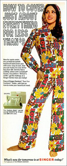 Psychedelic Terrycloth Beachsuit, 1970 by MewDeep, via Flickr